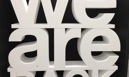 Lettre polystyrène expansé