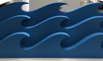 Découpe polystyrène expansé peint