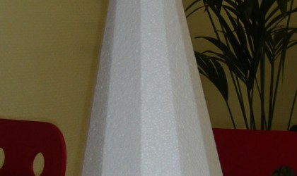 Polystyrene cone
