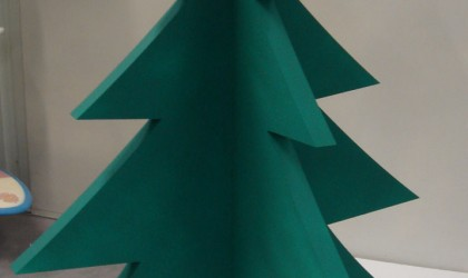 Polystyrene christmas tree