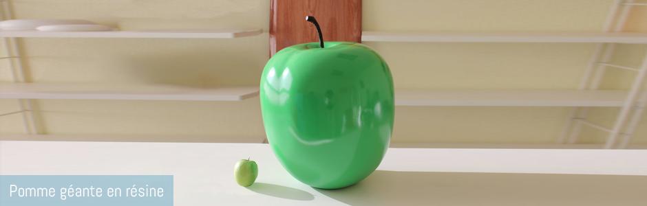 Pomme en résine