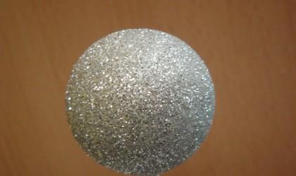 Silver glitter sphere